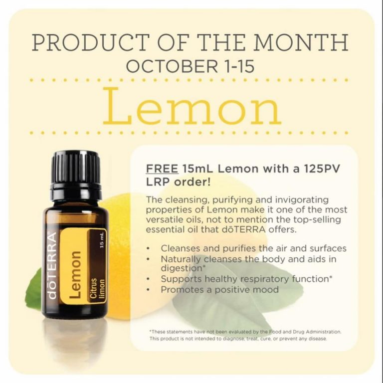 October 2018 Product of the Month – Lemon